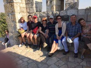 Walking atop the walls of Jerusalem